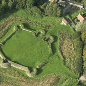 HES Bolingbroke Castle aerial view