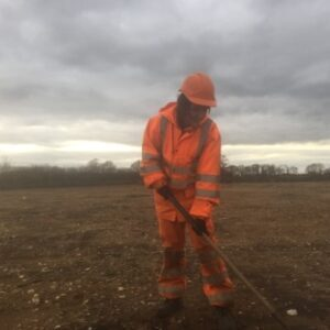 HES Bolingbroke Castle archaeology