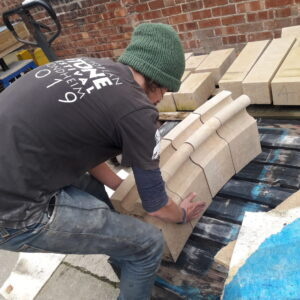 HES lincoln cathedral stone masonry in action