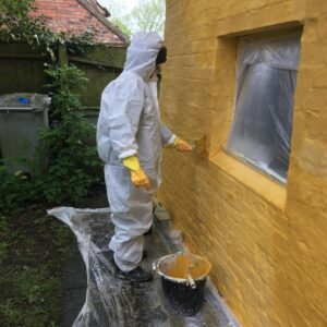 HES mill hill cottage limewashing