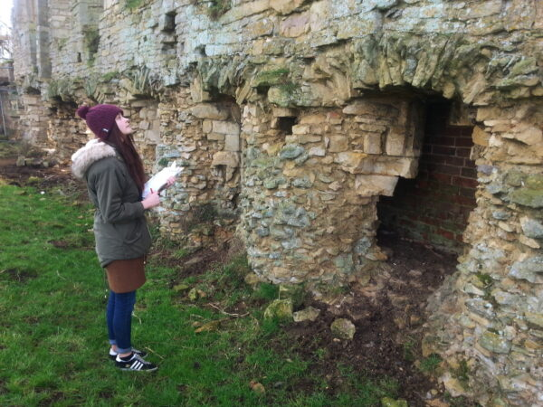 Eve inspecting Tupholme Abbey