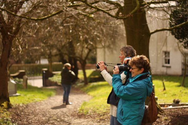 Learners on our 'From Auto to Awesome' beginners' photography course in Ludford