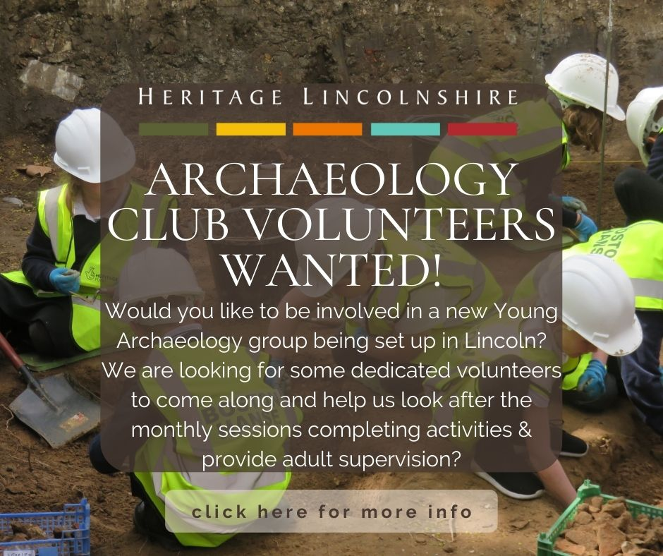 young archaeology club volunteers